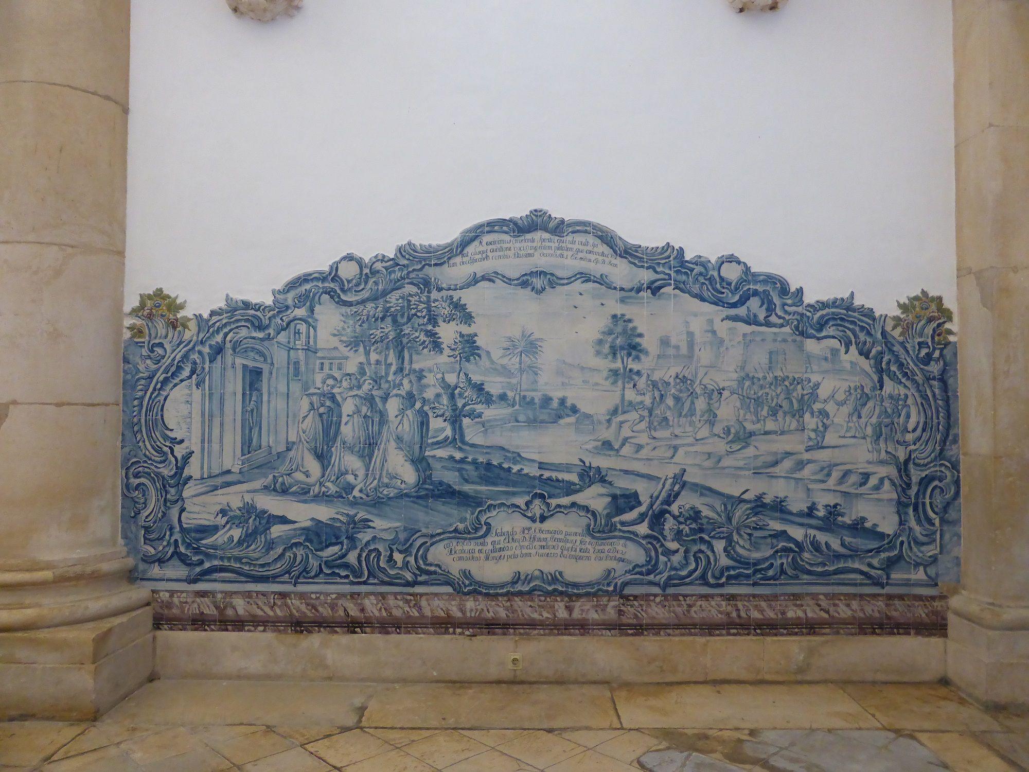 Azulejos in Alcobaça Monastery