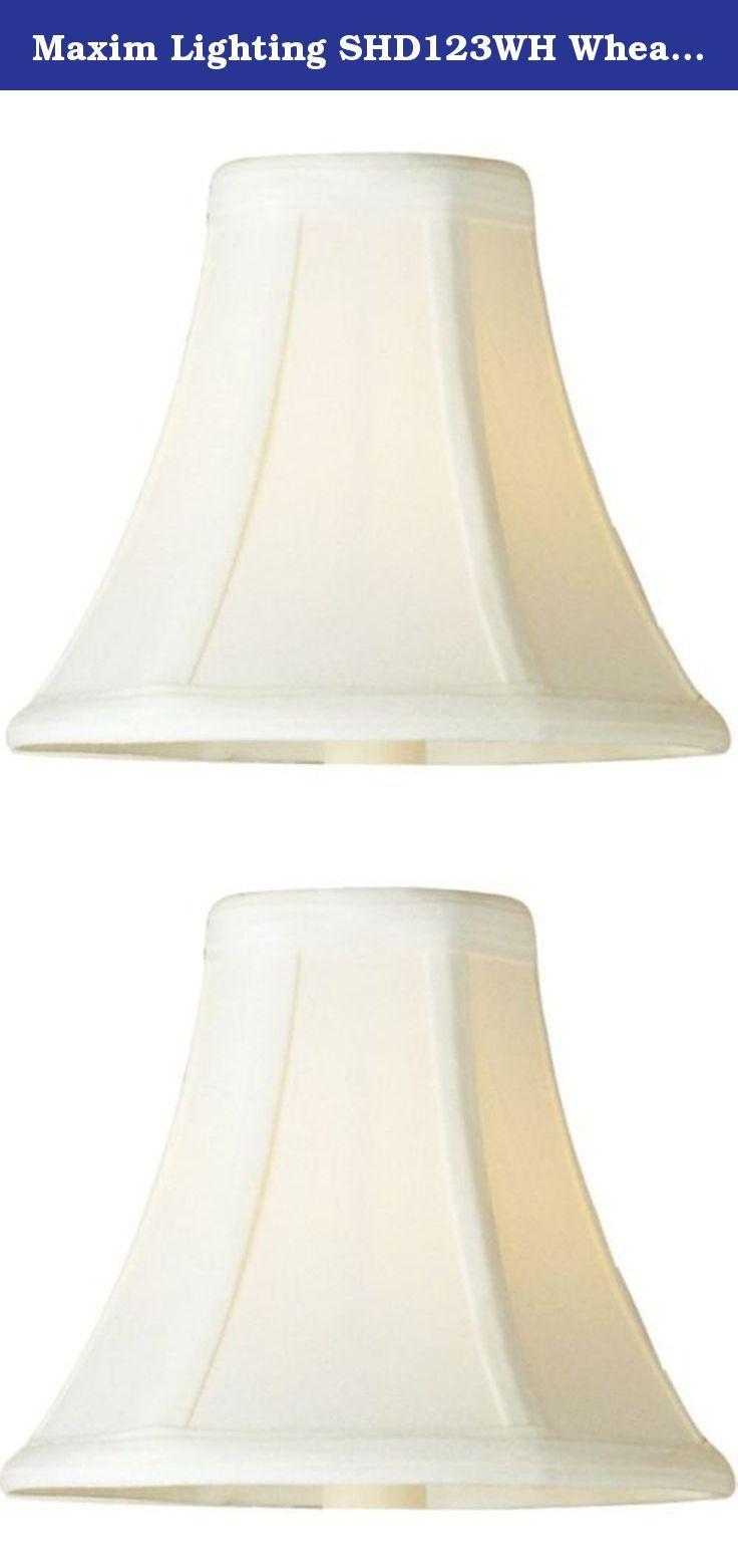 Maxim Lighting Shd123wh Wheat 6 High Light Shade Maxim Shd123wh Wheat 6 High Light Shade This Decorative Classic In O Light Shades Maxim Lighting Lamp Shade