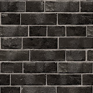 Brick White Peel And Stick Wallpaper Ebony Black Tempaper Black Brick Wallpaper Textured Brick Wallpaper Brick Temporary Wallpaper