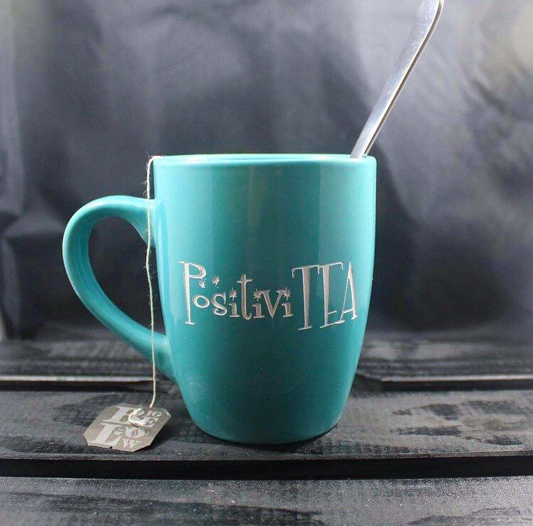 A personal favorite from my Etsy shop https://www.etsy.com/listing/476499964/choose-positivity-mug-tea-time-etched