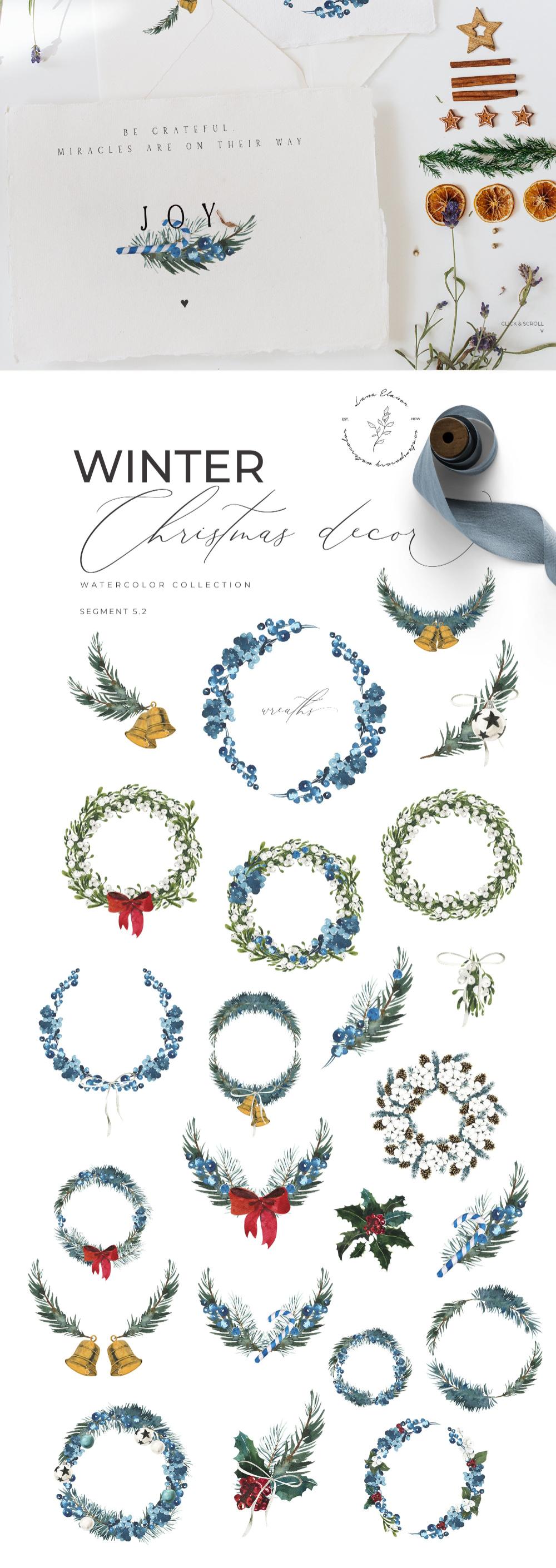 WINTER AESTHETICS + Christmas ~ Illustrations ~ Creative Market #happyfallyallwallpaper