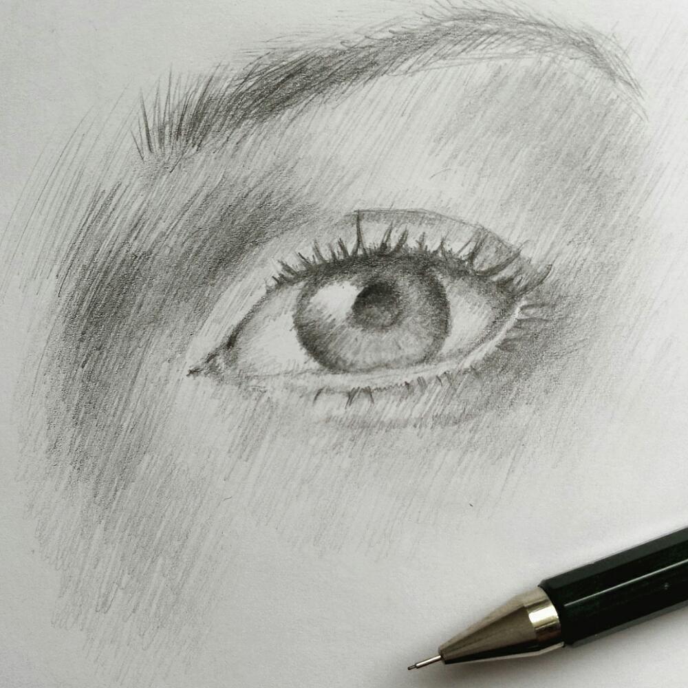 Ein Auge durch eine Schraffur abbilden | Zeichnungen | Pinterest ...