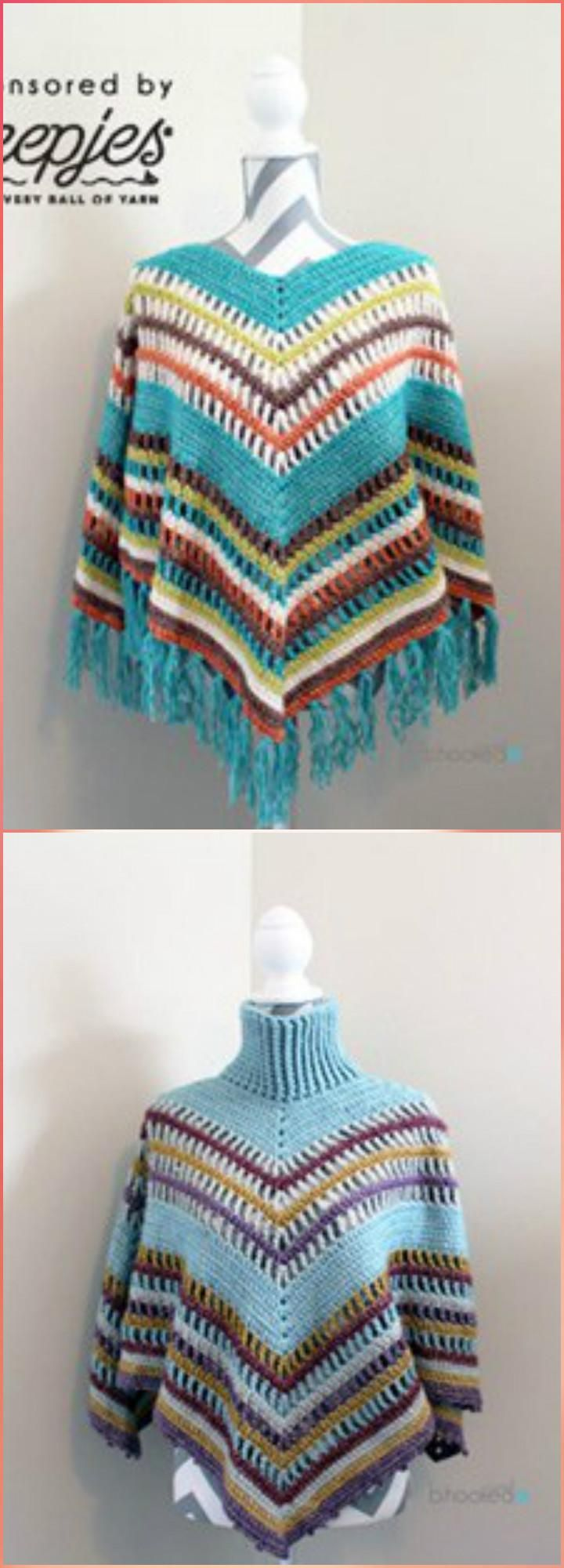 50 Free Crochet Poncho Patterns for All - Page 8 of 9 | Häkeln