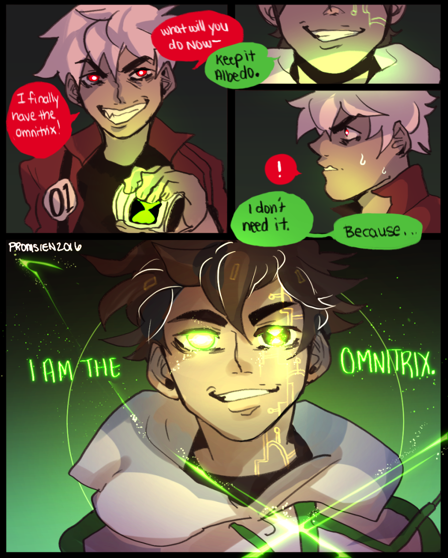 What if over time the omnitrix just fused into Ben and