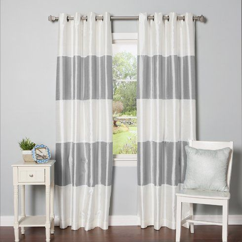 Striped Blackout Thermal Curtain Panels Window Construction And