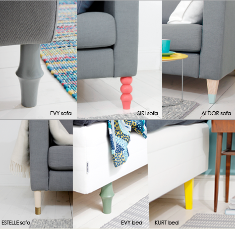 Prettypegs Makes Fun Designs To Replace Your Ikea Sofachair Legs - Add color to your room prettypegs replace your ikea legs