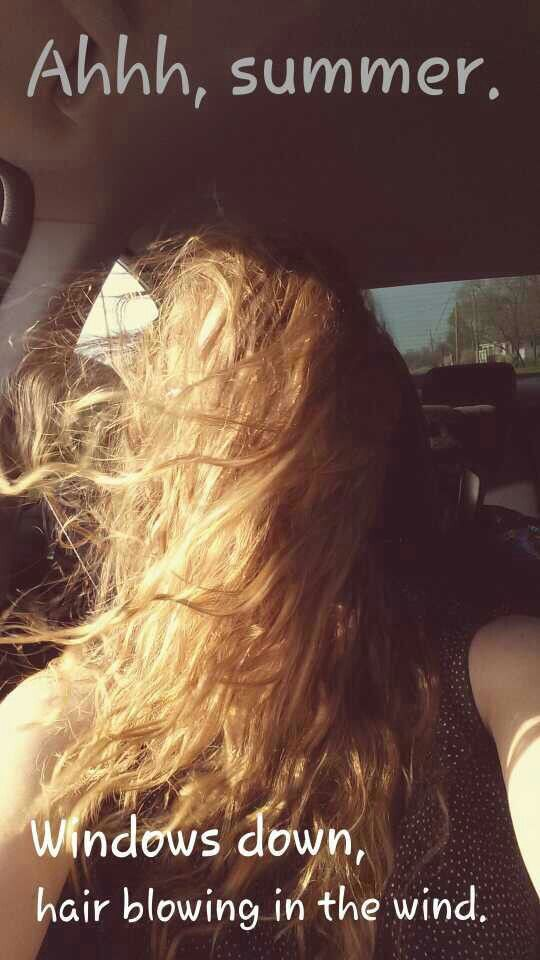 Image result for messy long hair after riding in convertible