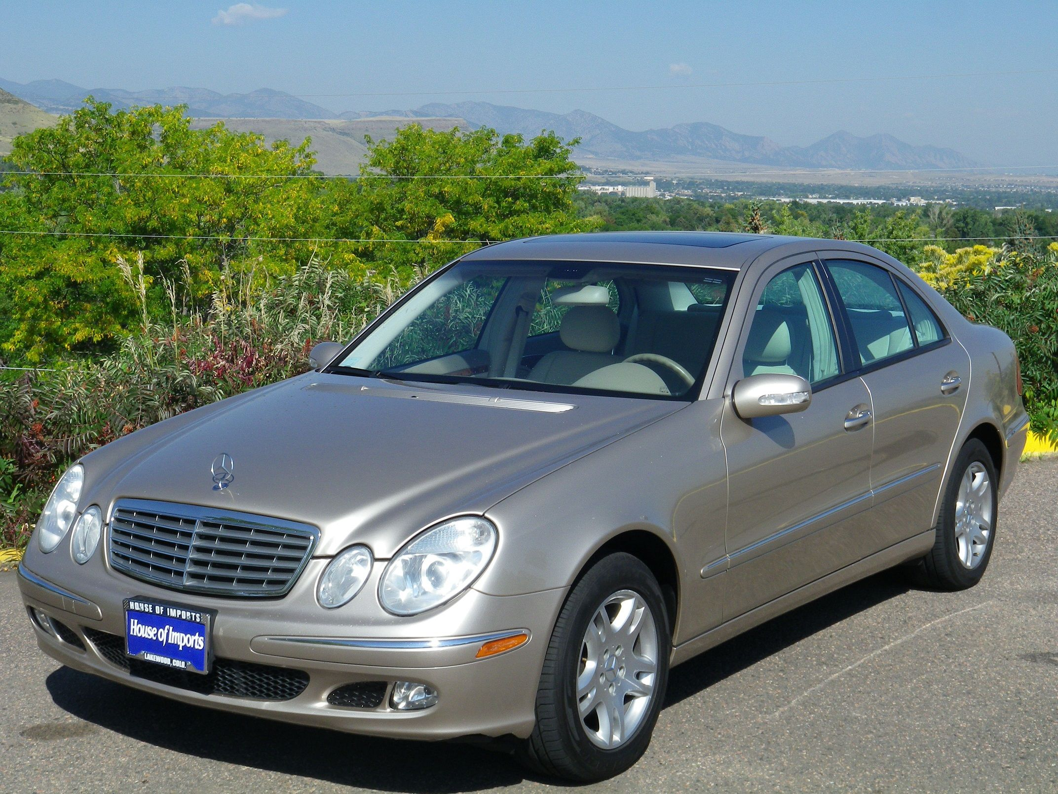 medium resolution of 2004 mercedes benz e320 4 matic 103 035 miles v i n wdbuf82j44x153514 stock c450 desert silver metallic interior stone leather