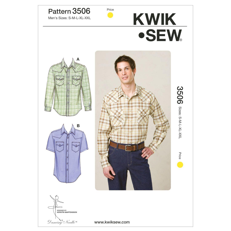 Kwik Sew Mens Top - K3506 | fabrics | Pinterest | Sewing patterns ...