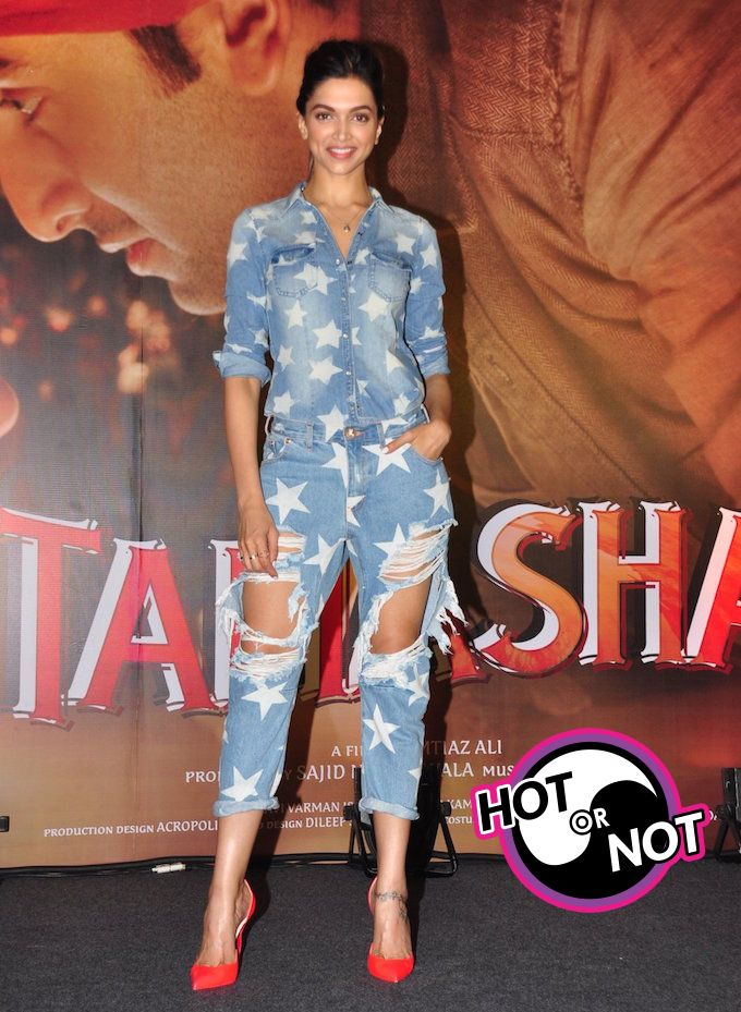 Did Deepika Padukone Go Too Far With Her Ripped Jeans Deepika Padukone In Jeans Deepika Padukone Bollywood Actress Hot
