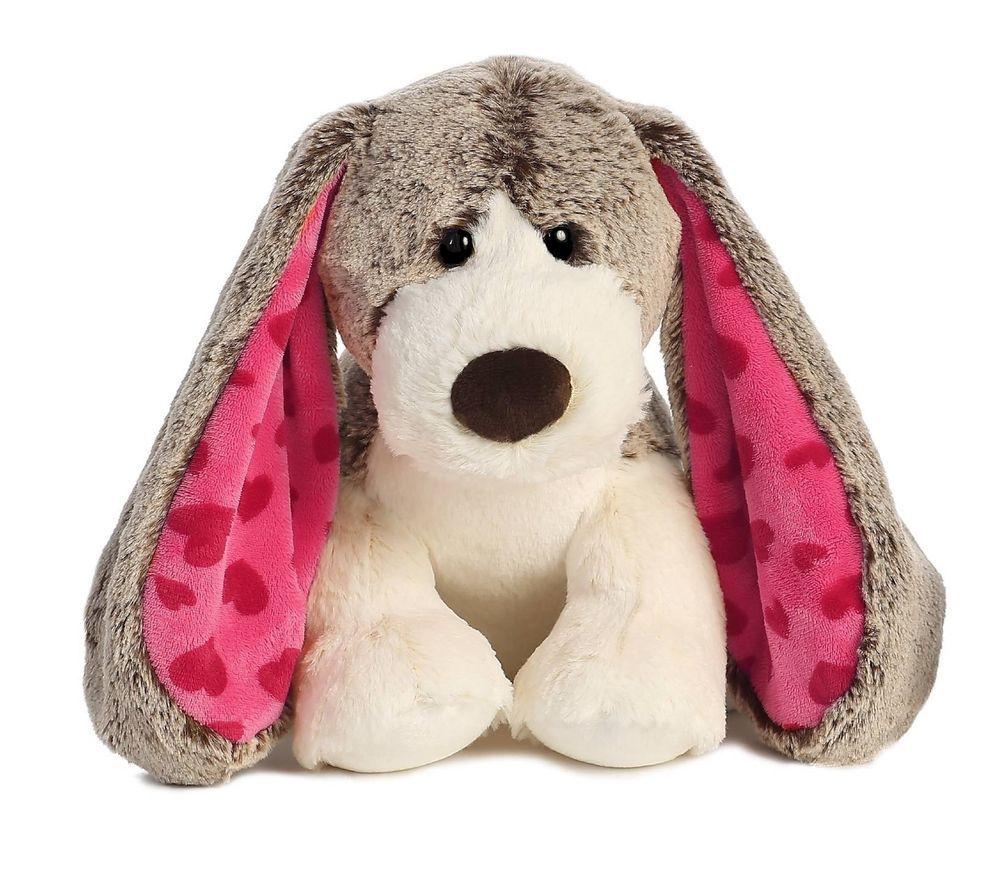 "12"" Aurora Plush Puppy Dog ""Lots of Love"" Stuffed Animal"