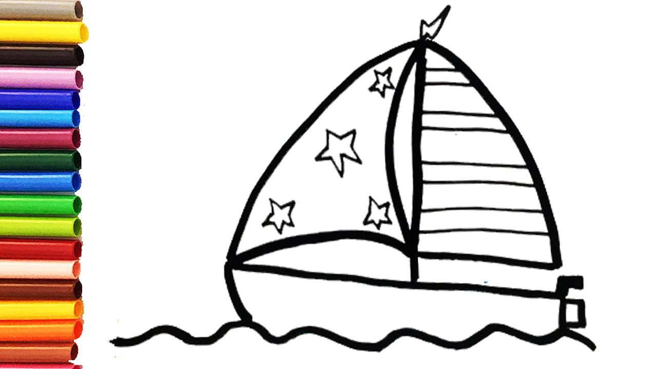 How To Draw A Cute Boat For Kids With Images Art Toy Boat
