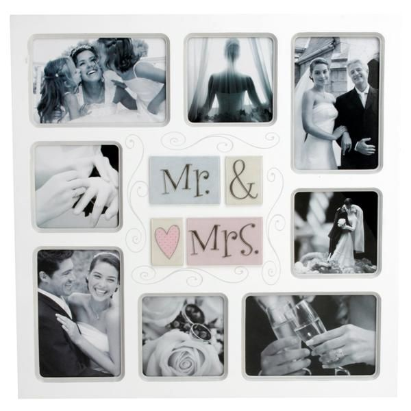 3 Mr and Mrs Collage Photo Frame <3 Every married couple needs some ...