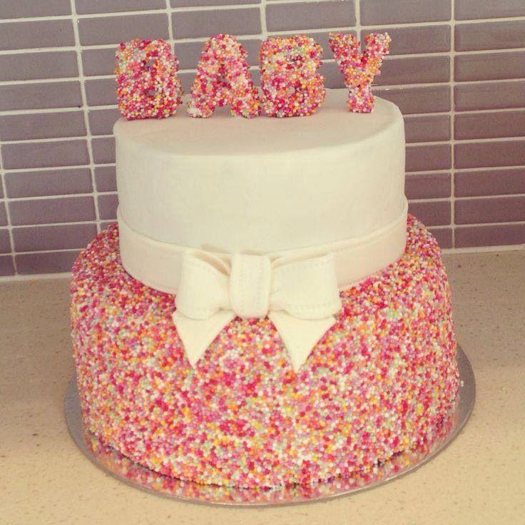 Sprinckle Baby shower cake (by Stylish Eve)