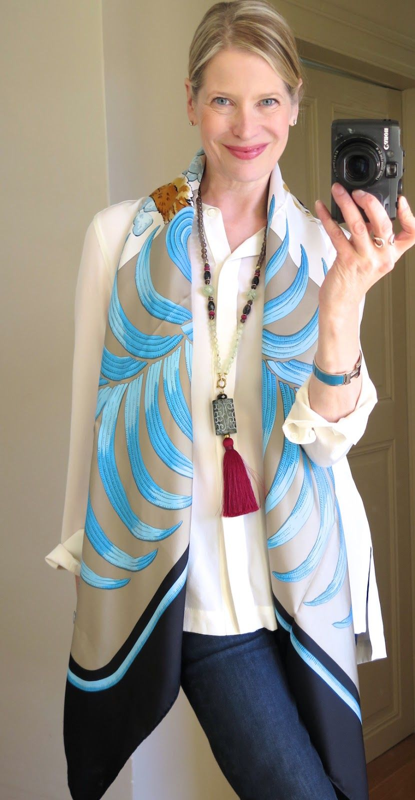 Cashmere Silk Scarf - Natural World Clay by VIDA VIDA wqWK1