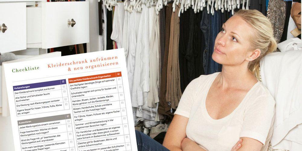 Inspirational Checkliste Kleiderschrank aufraeumen und neu organisieren