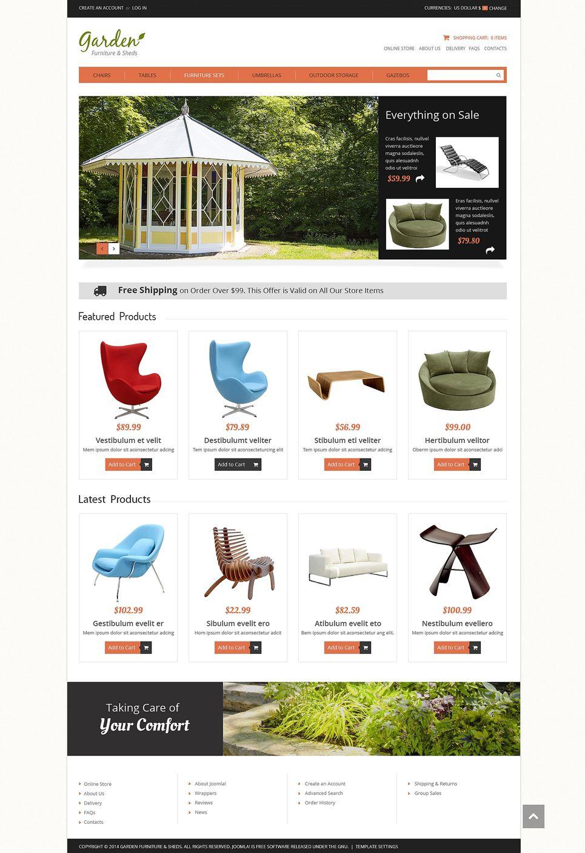 Garden Furniture Virtuemart Template 50126 Garden Furniture Templates Web Design Software
