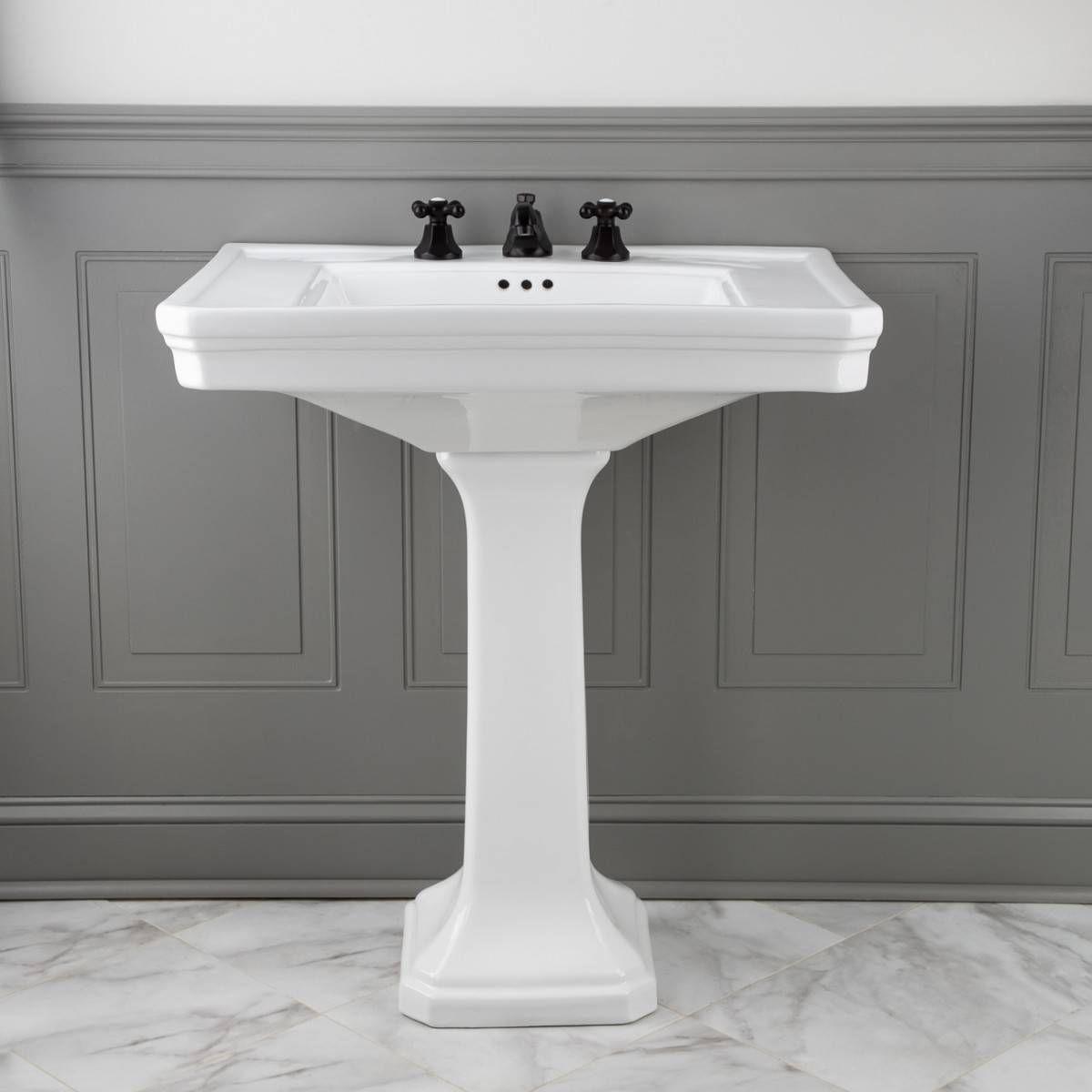 Randolph Morris 30 Inch Pedestal Sink 8 Inch Faucet Drillings