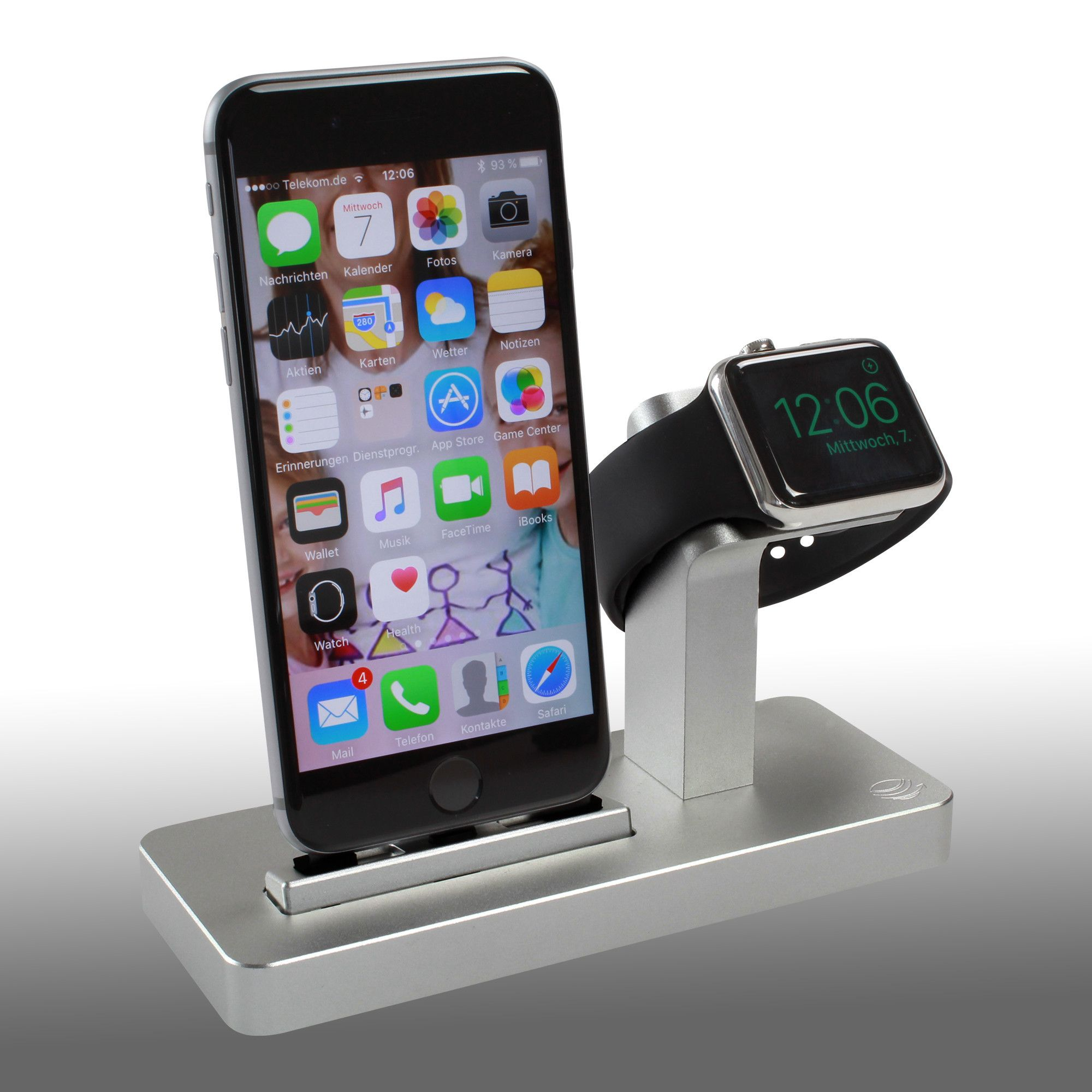 Premium one w2 dual dock charging stand for apple watch