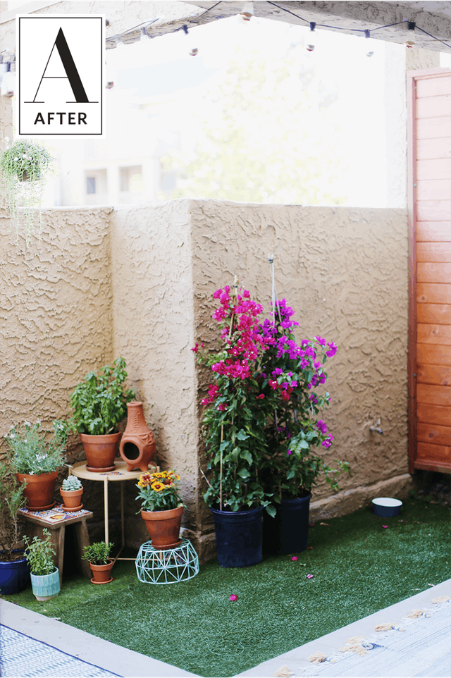 Before Amp After A Budget And Renter Friendly Patio