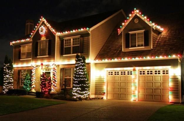 outdoor home decorating with led lights #christmaslightspictures