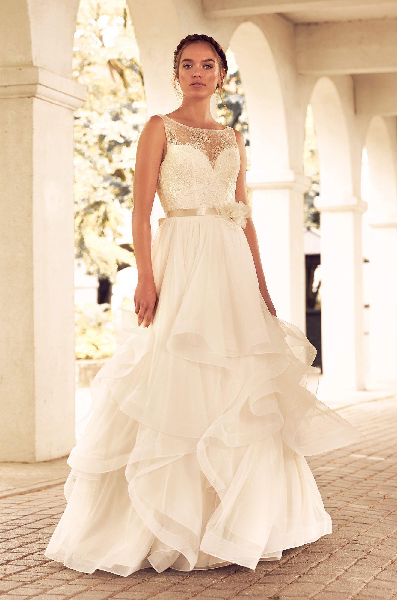 Tulle ruffle wedding dress style tulle skirts bodice and