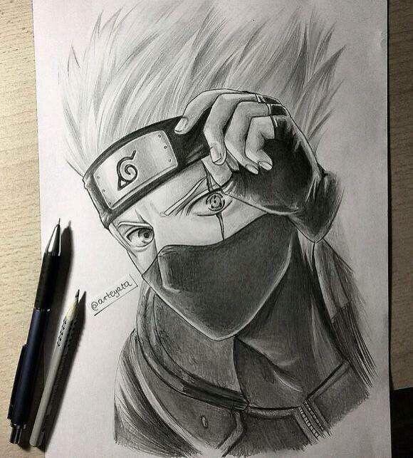 Kakashi Hand Drawing By Arteyata Minato Naruto Cosplay Anime Cosplayclass Dibujos De Kakashi Naruto A Lapiz Naruto Dibujos A Lapiz