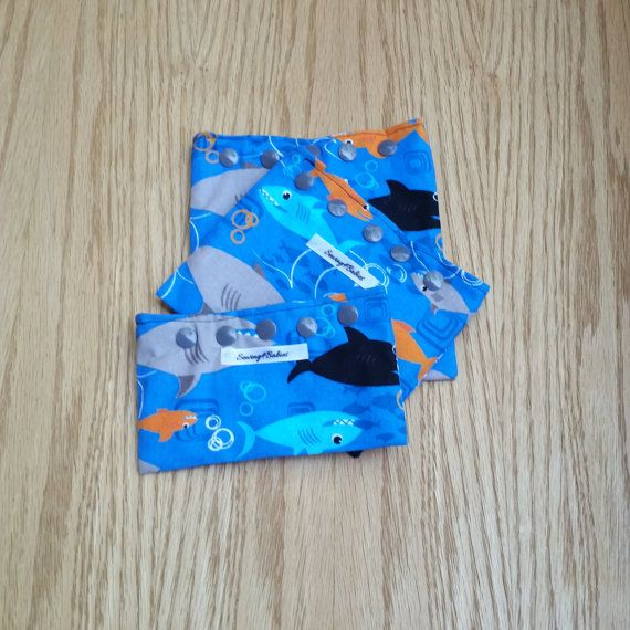 Shark Snack Bags  Reusable Snack Bags  Snack by Sewing4Babies