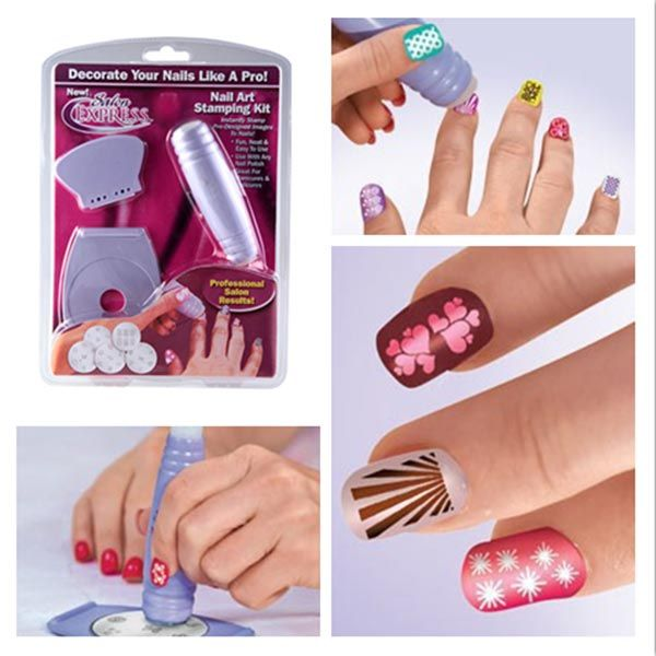 Nail Art Stamp Stamping Kit Diy Design Polish Design Set Bored