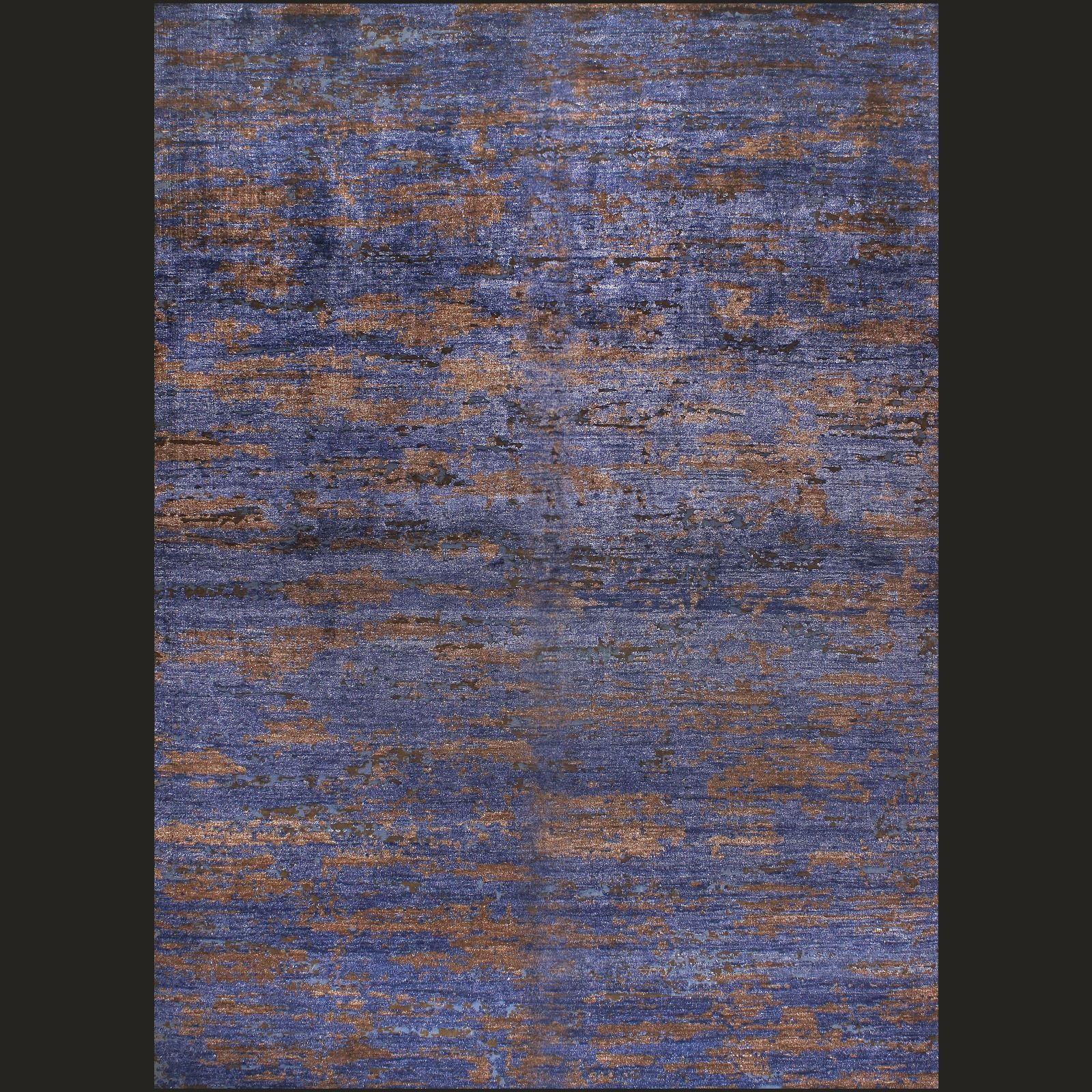 26218 topas modern classic design teppich blau kupfer von talis teppiche - Teppich Design Modern
