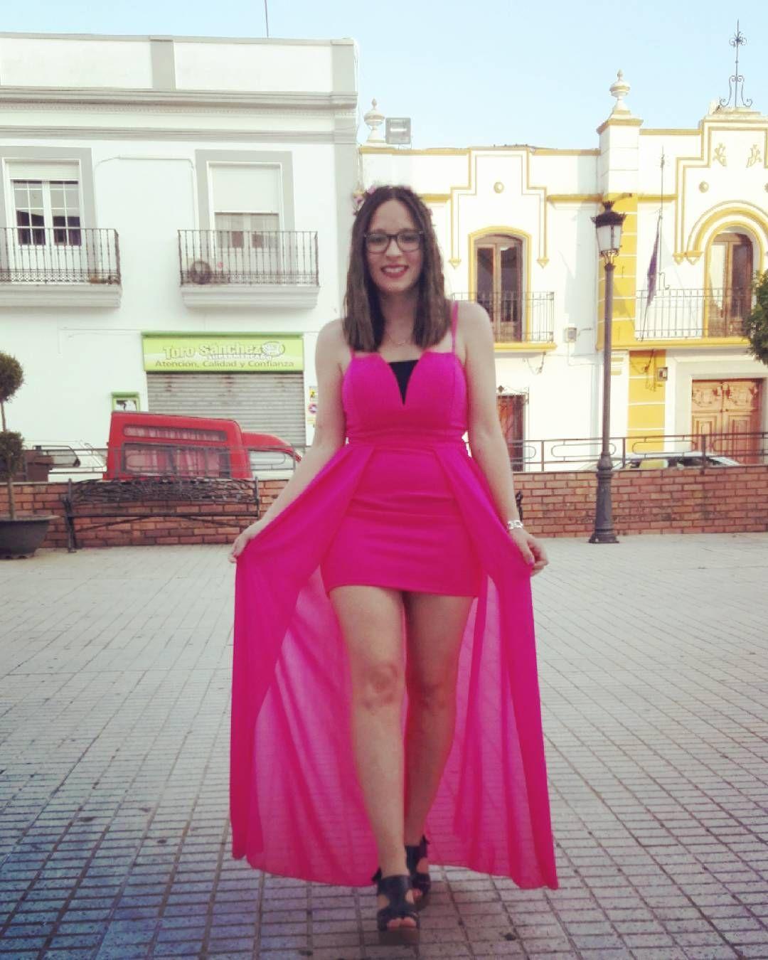 Vestido rosa largo y corto para bodas y eventos importantes ...
