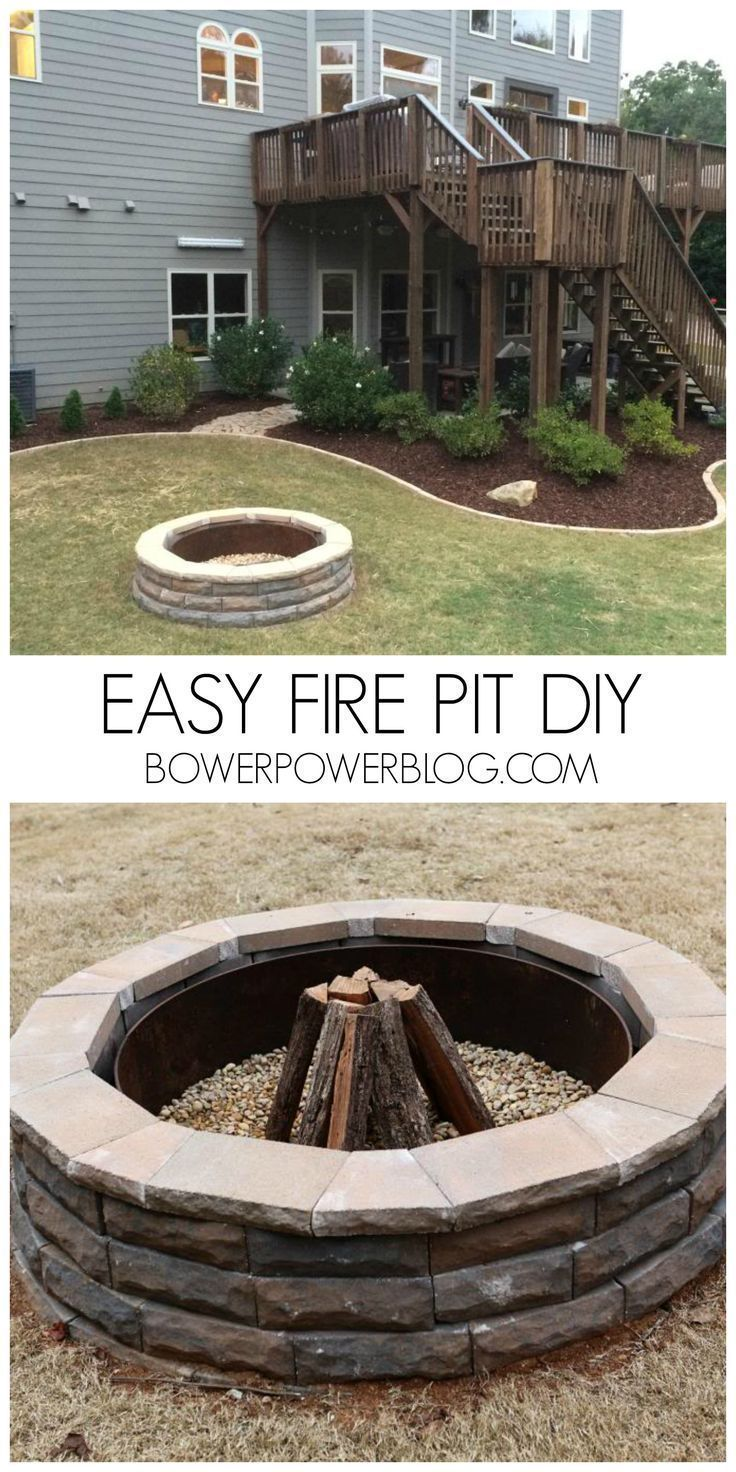 Easy Fire Pit DIY! This Looks Great And Works Awesome For Any Back Yard.