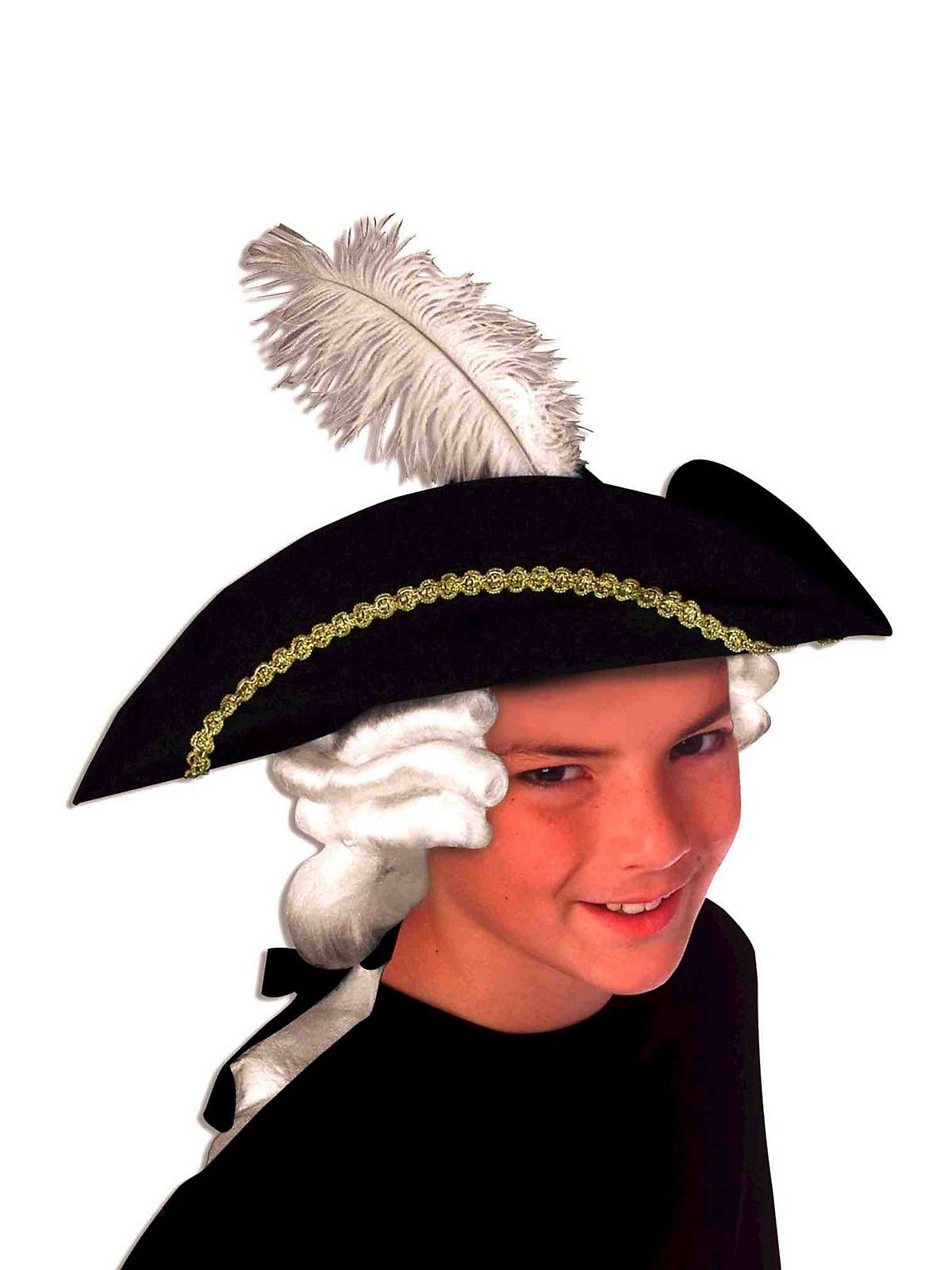 kids colonial hat and wig set cheap halloween costumescostume - Kids Cheap Halloween Costumes