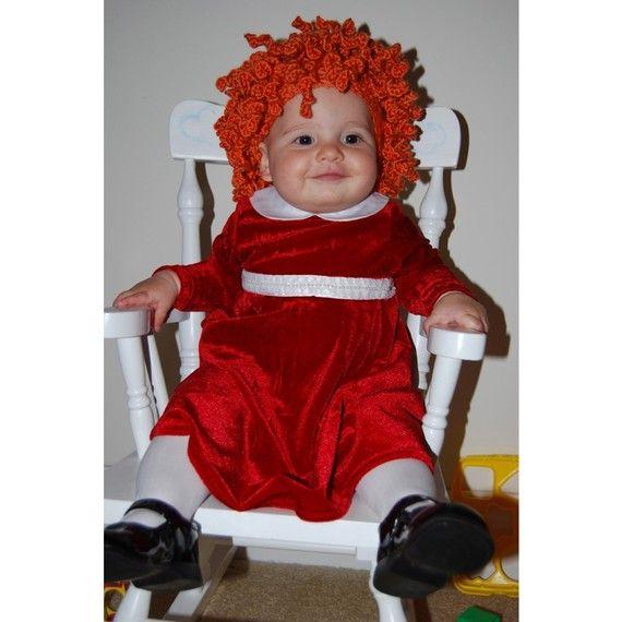 Child Little Annie Orphan Costume Wig