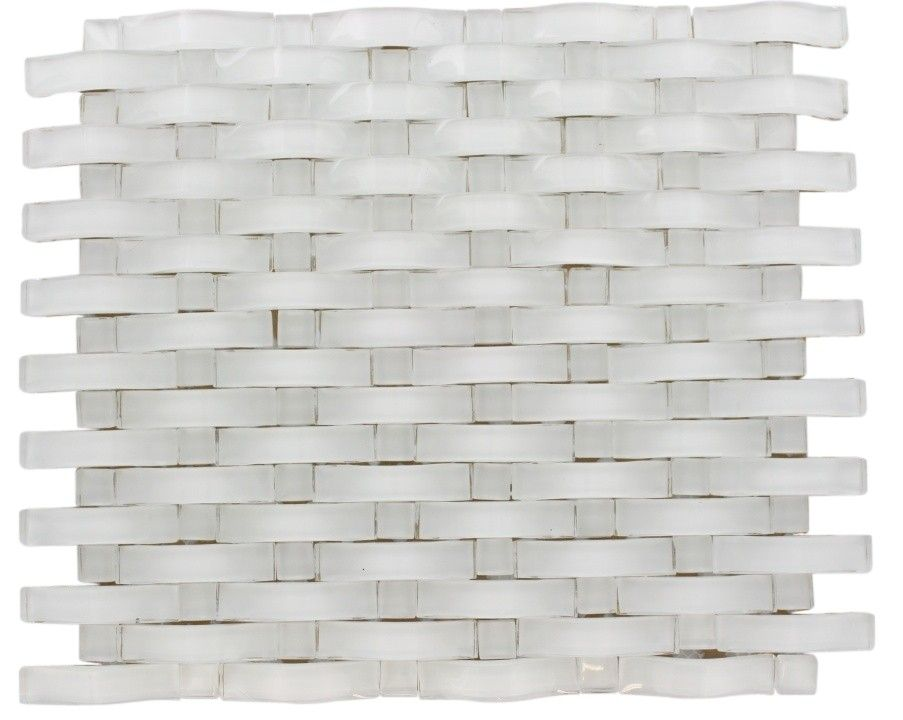 Loft curve super white    dot brick pattern marble  glass tile also