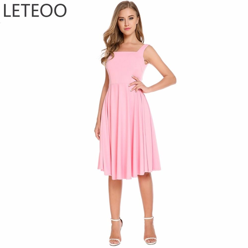 LETEOO Runway Suspender Dress Women Sexy Backless Party Club Tunic ...