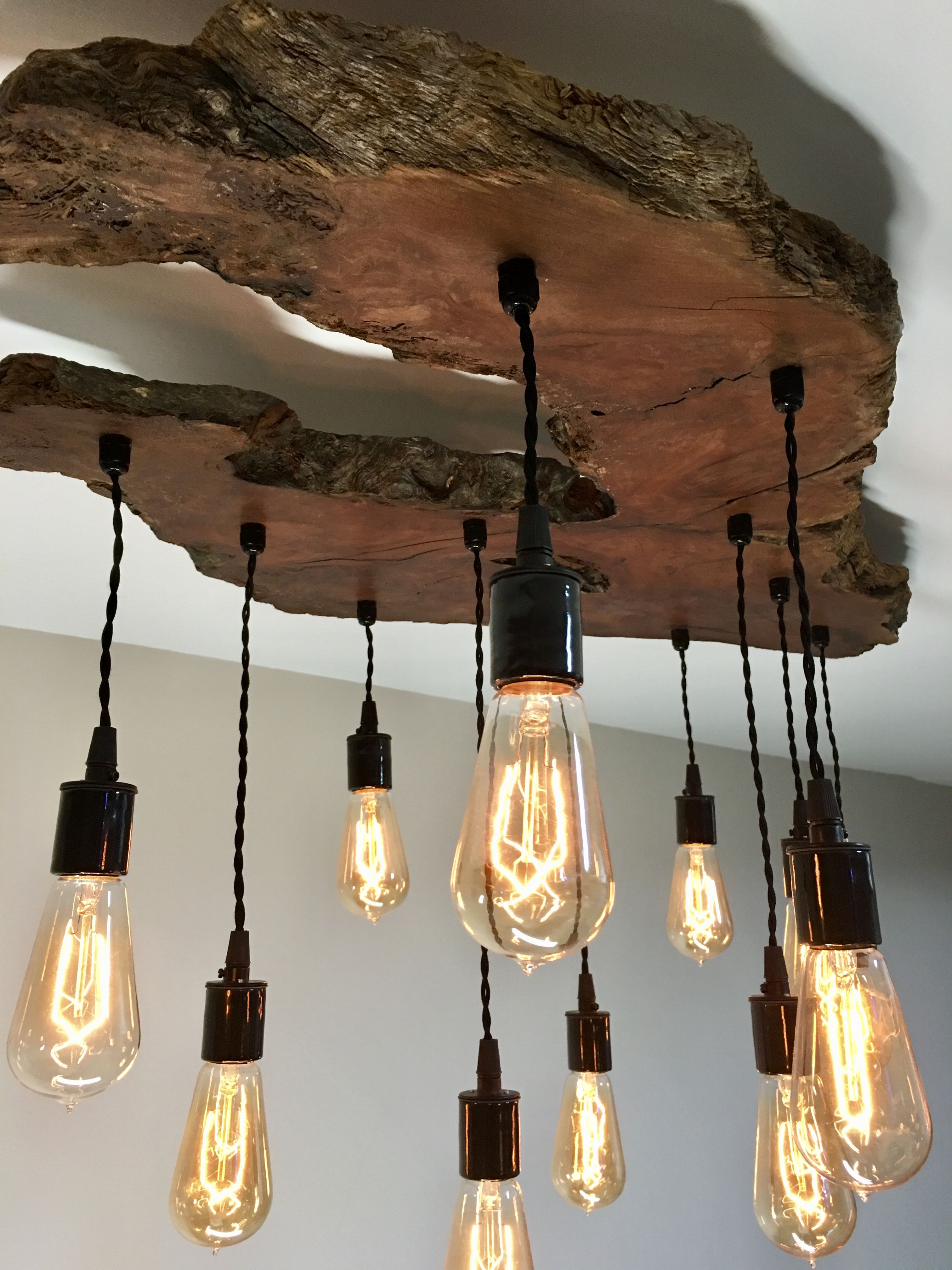 Custom to order create your own medium live edge olive - Make your own light fixture ...