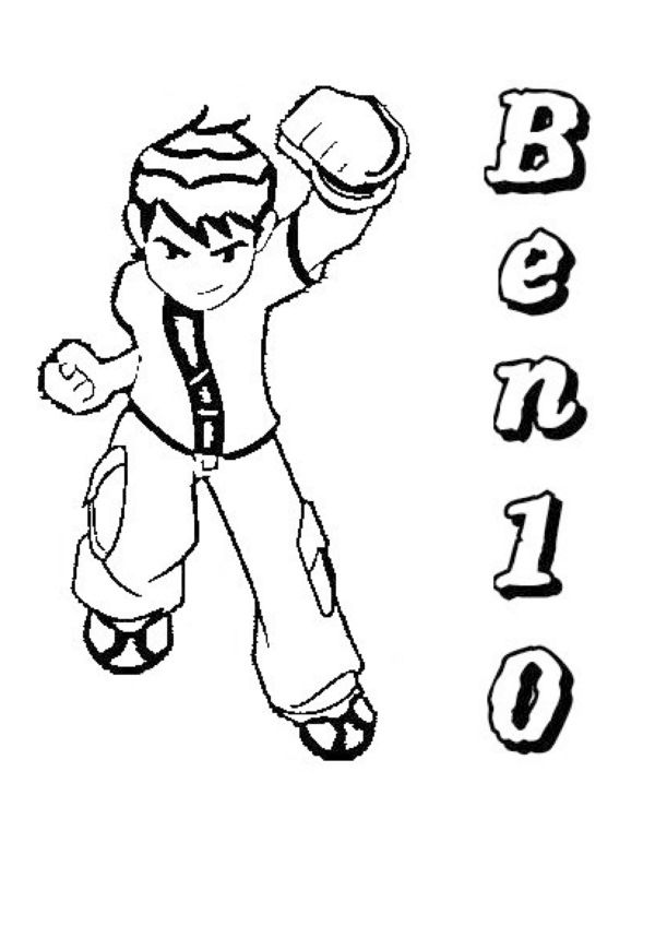Collection Of Top Free Printable Ben 10 Coloring Sheets