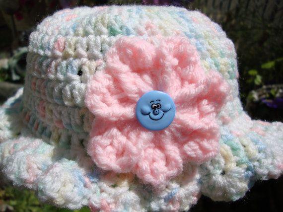 Baby flower Hat by Yarnhotoffthehook on Etsy, $15.00