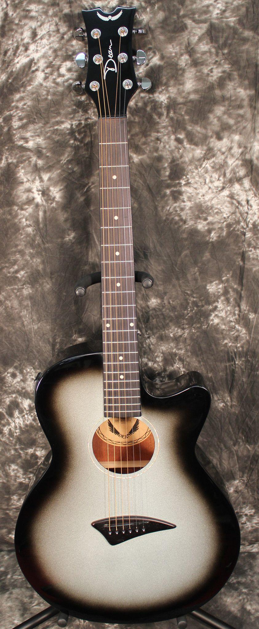 2015 Dean Axcess Performer Silverburst Cutaway Acoustic Electric Guitar