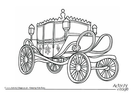 Carriage Colouring Page 1 Coloring Pages Color Royal Party