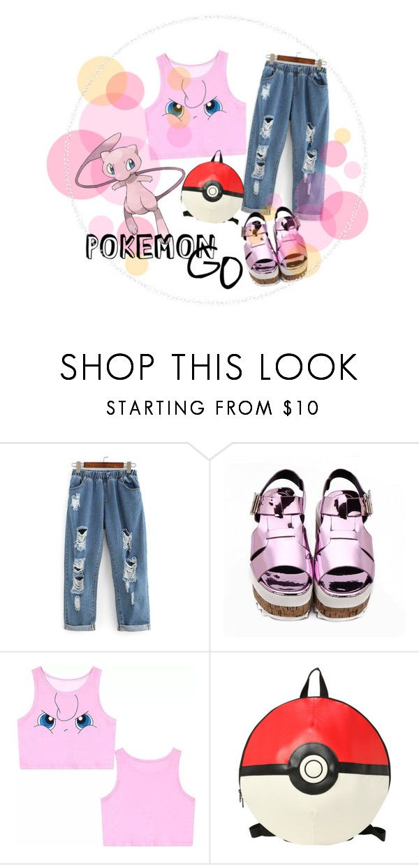 """""""POKÈMON GO"""" by mariammab ❤ liked on Polyvore featuring Mew."""