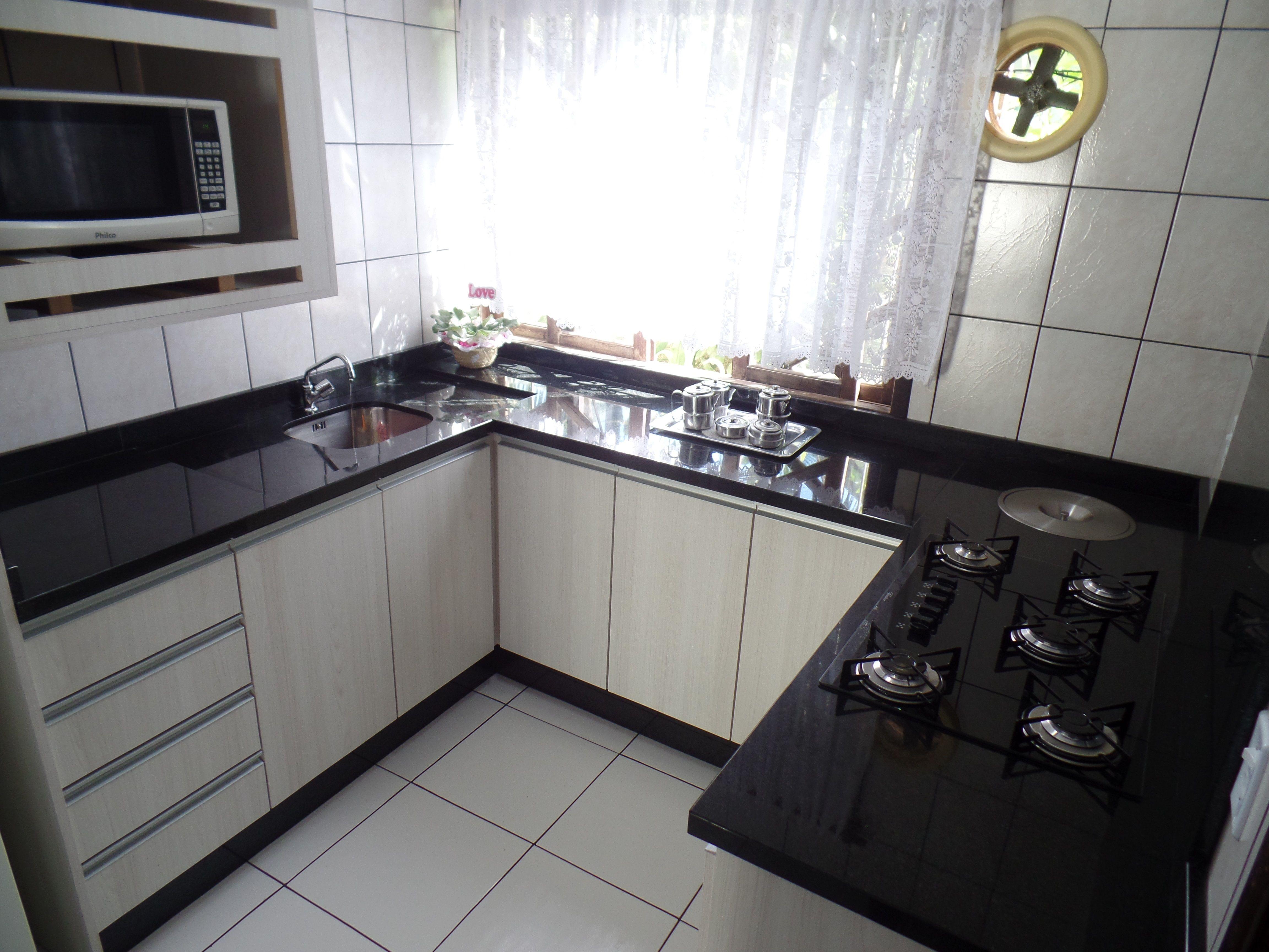 Bancada De Cozinha Em Granito Preto S O Gabriel Cozinhas