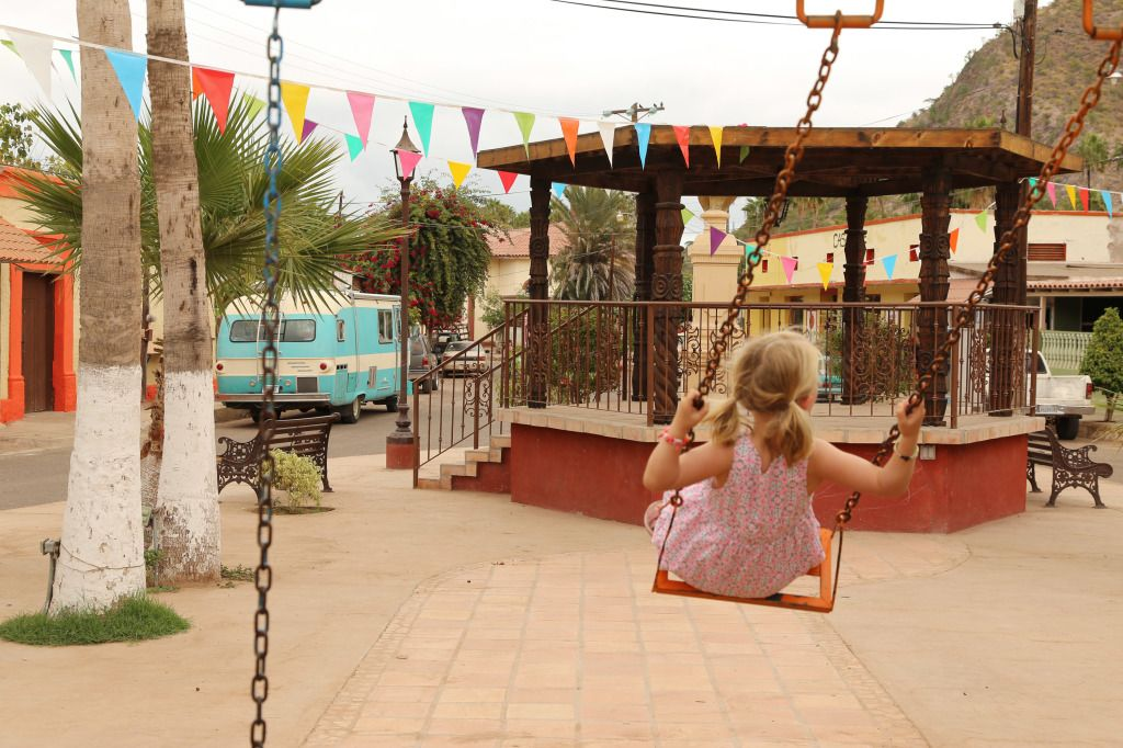 Mulege Baja Mexico plaza. Nice place for a swing.