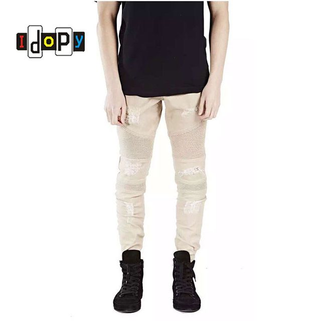 0ee65873 Buy now Runway Rider Mens Super Skinny Slim Fit Motorcycle Washed Vintage  Ripped Washed HipHop Elastic Denim Pants Biker Jeans For Men just only  $21.28 with ...