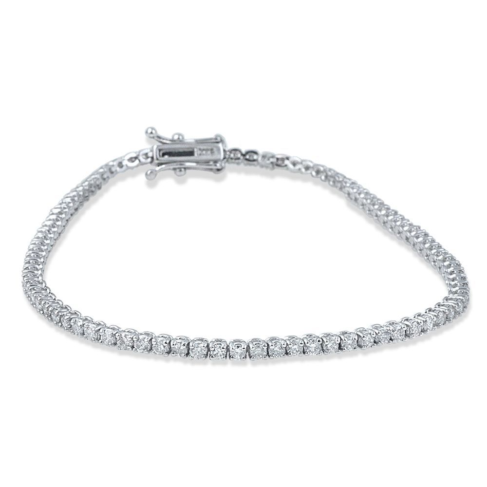 K white gold ct tdw flexible diamond tennis bracelet ij ii