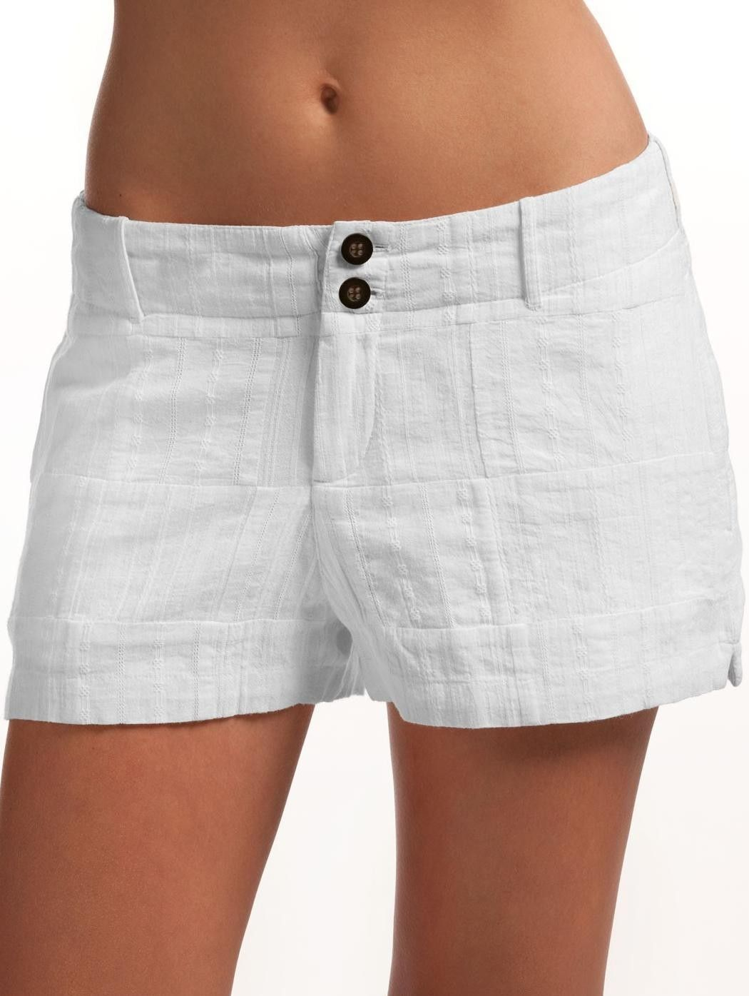 White Shorts For Women - The Else