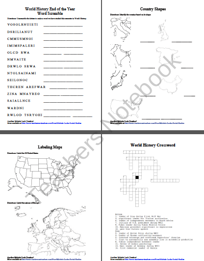 End of the year world history game relay activity product - Game design lesson plans for teachers ...