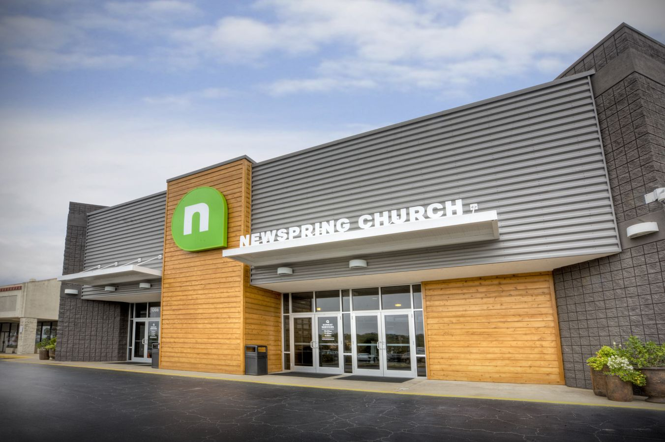 Main Entry Of Newspring Church Greenwood Campus