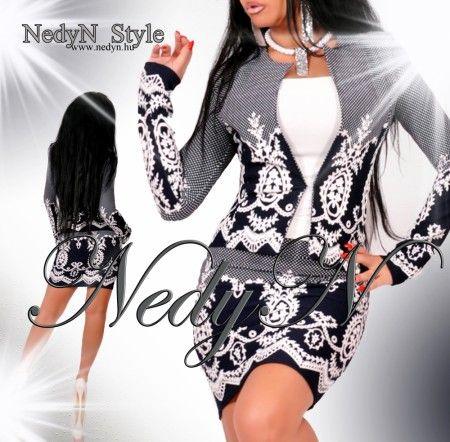 2061313f2230 NedyN mintás női kosztüm Blézer és szoknya szett S | NedyN Női ruha ...